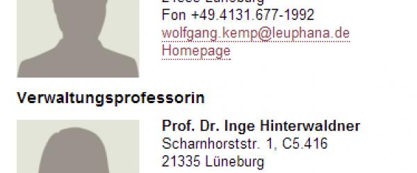 Professorin und Professor. Eine haarige Unterscheidung. Screenshot: Hufi