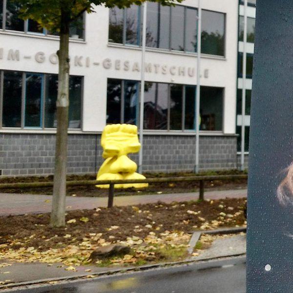 Kleinmachnows Wahlkampf. Foto: Hufner